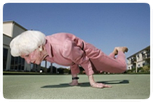 Old lady exercising